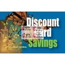 Discount-Karten mit Aufdruck